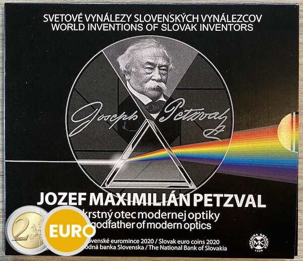 Serie de euro BU FDC Eslovaquia 2020 - Jozef Maximilian Petzval