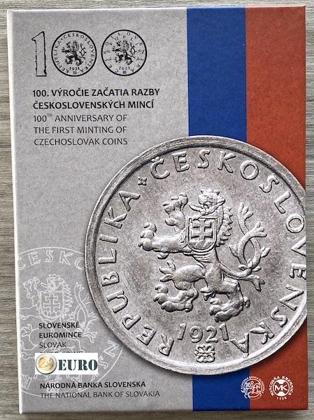 Serie de euro BE Proof Eslovaquia 2021 - monedas checoslovacas
