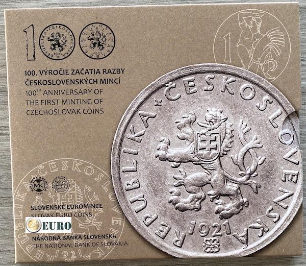 Serie de euro BU FDC Eslovaquia 2021 - monedas checoslovacas
