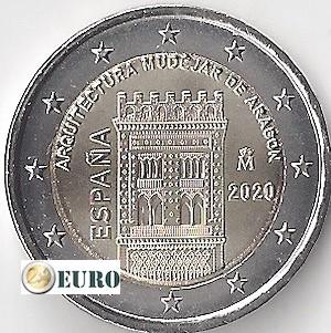 2 euros España 2020 - Mudéjar Aragón UNC