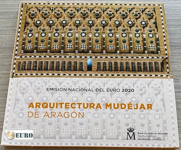 Serie de euro BU FDC España 2020 + 2 euros Aragón