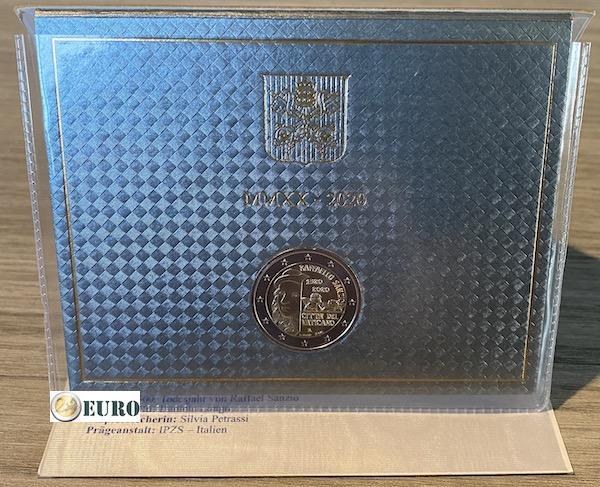 2 euros Vaticano 2020 - Raffaello BU FDC