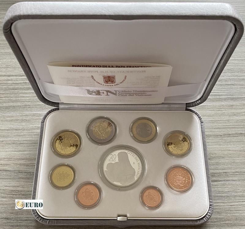 Serie de euro BE Proof Vaticano 2020 + 20 euros plata