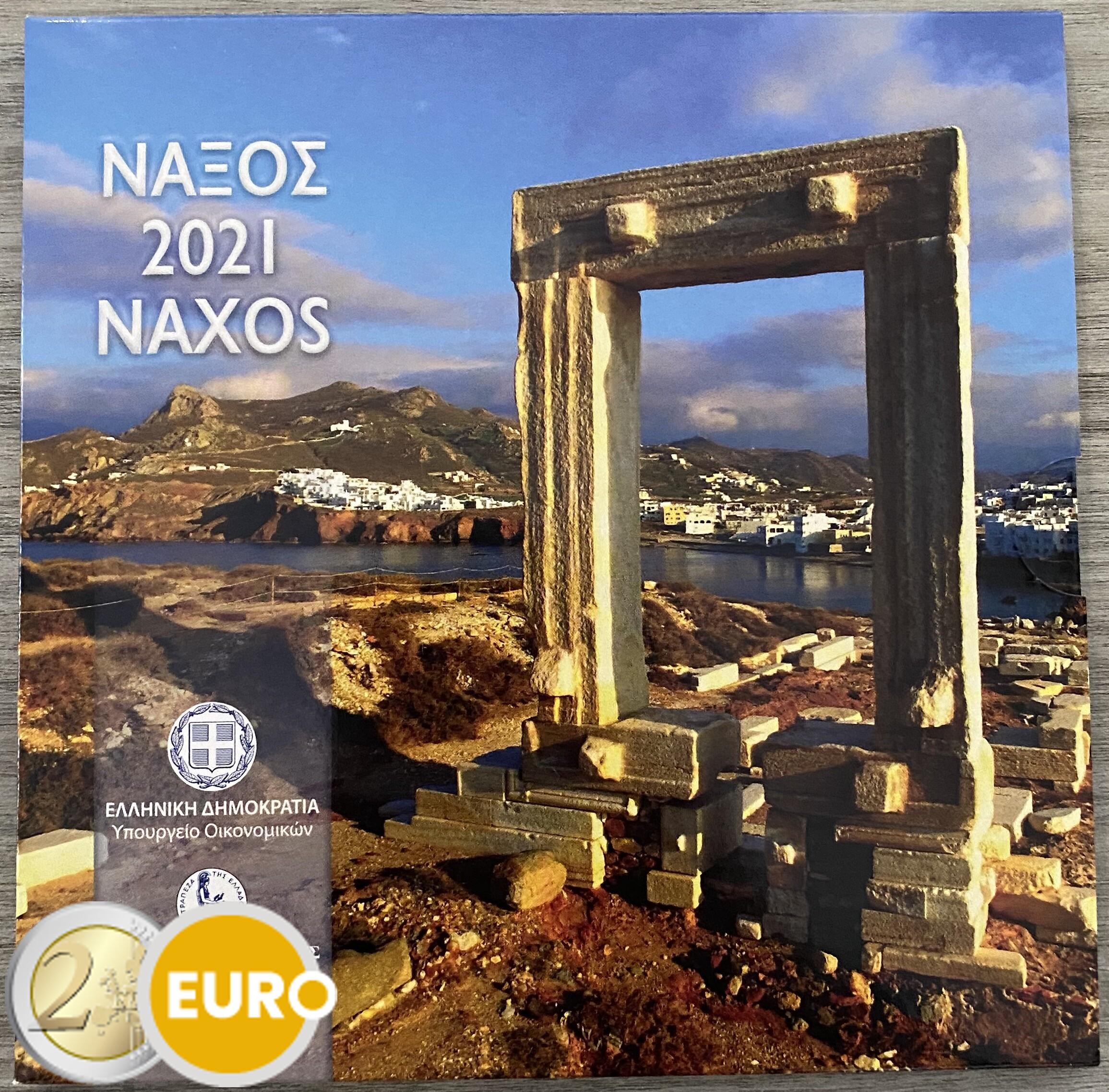 Serie de euro BU FDC Grecia 2021 Naxos