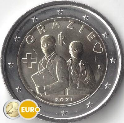 2 euros Italia 2021 - Grazie Profesiones sanitarias UNC