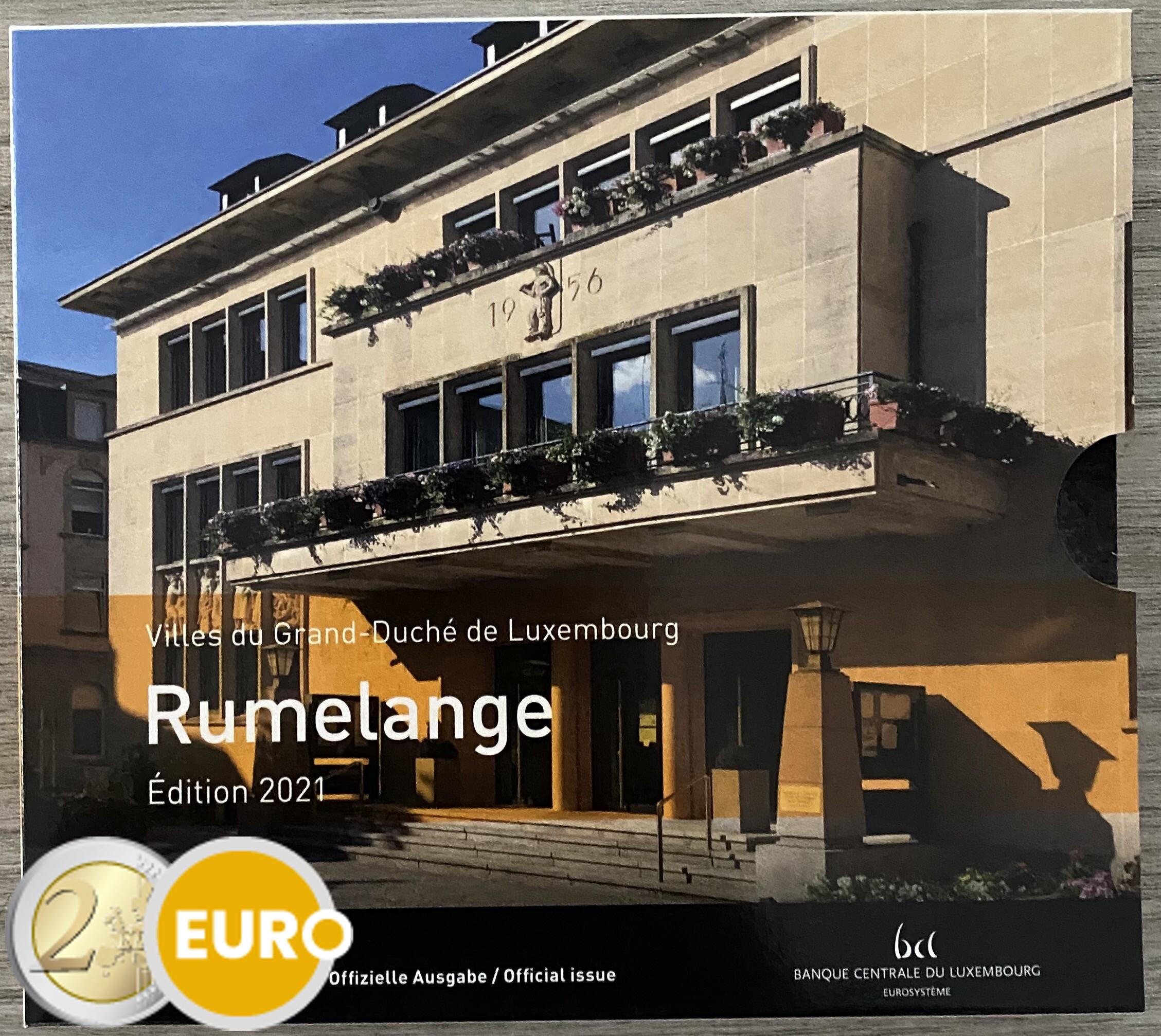 Serie de euro BU FDC Luxemburgo 2021 Rumelange + 2 euros nacimiento Juan foto