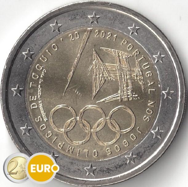 2 euros Portugal 2021 - Juegos Olímpicos UNC