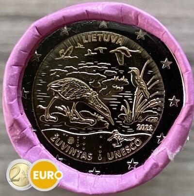 Rollo 2 euros Lituania 2021 - Reserva de la Biosfera Zuvintas