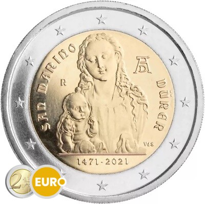 2 euros San Marino 2021 - Alberto Durero BU FDC