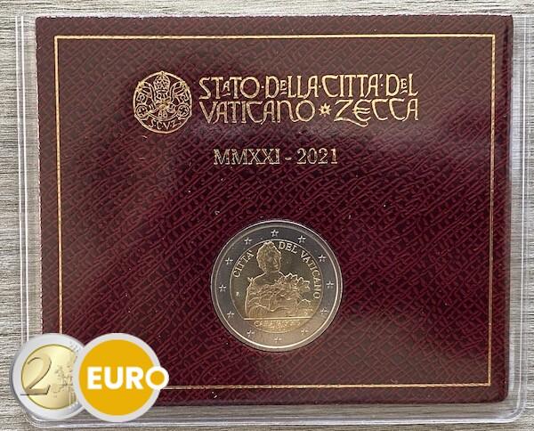 2 euros Vaticano 2021 - Caravaggio BU FDC