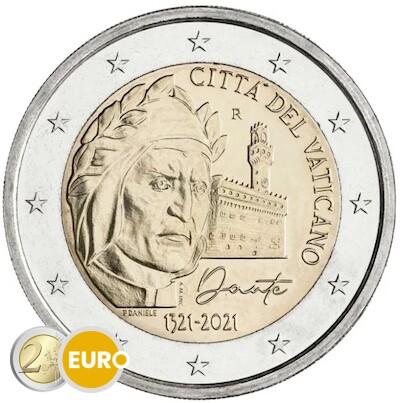 2 euros Vaticano 2021 - Dante Alighieri BU FDC