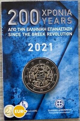2 euros Grecia 2021 - Revolución griega BU FDC Coincard