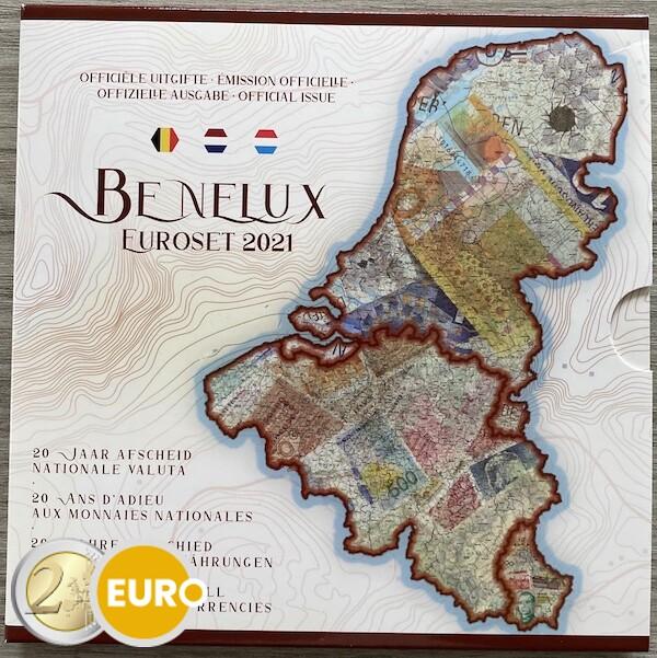 Serie de euro BU FDC Benelux 2021 Moneda antigua