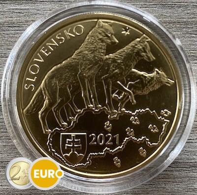 5 euros Eslovaquia 2021 - Lobo UNC