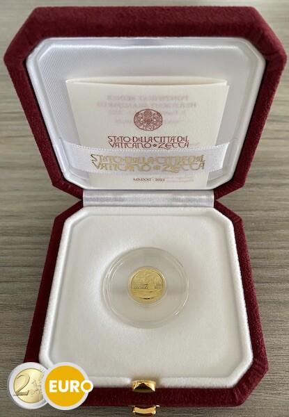 10 euros Vaticano 2021 - Bautismo BE Proof Oro