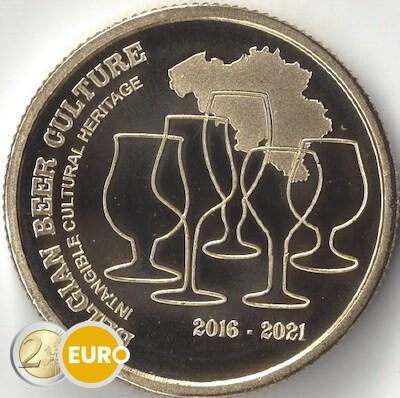 2,50 euros Bélgica 2021 - Cultura de la cerveza patrimonio UNC