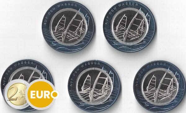 10 euros Alemania 2021 - En el agua ADFGJ UNC