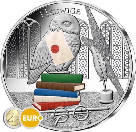 50 euros Francia 2021 - Harry Potter Hedwig BE Proof Plata colorado