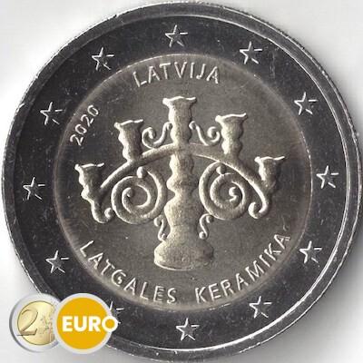 2 euros Letonia 2020 - Cerámica letona UNC