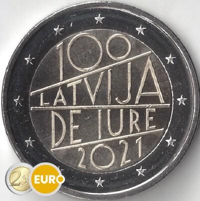 2 euros Letonia 2021 - Reconocimiento Internacional UNC