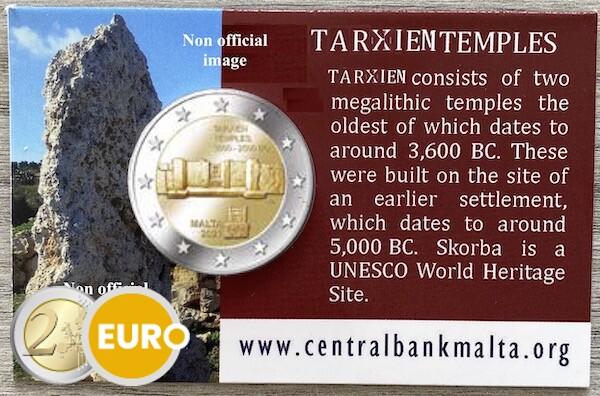 2 euros Malta 2021 - Templo Tarxien BU FDC Coincard MdP