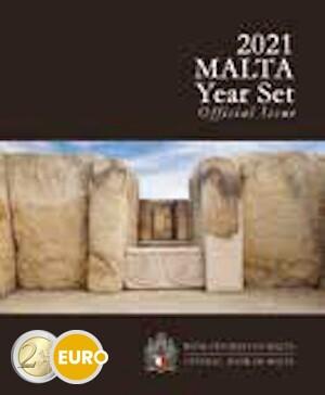 Serie de euro BU FDC Malta 2021 + 2 euros Templo Tarxien